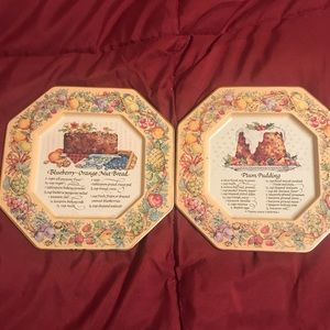 1982 Avon tin recipe plates. Set of 2